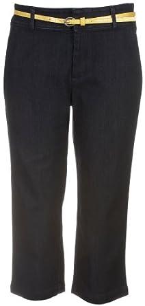 Dockers Women's Petite Capri Pant With Hello Smooth, Navy, 4 Medium