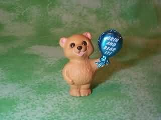 Bear and Balloon Grin and Bear It Hallmark Merry Miniature QFM1716 - 1