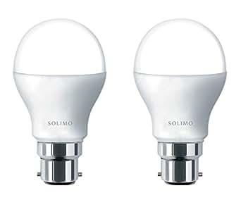Solimo Base B22 7-Watt LED Bulb (Pack of 2, Cool Day Light)