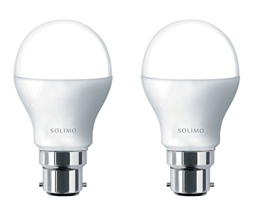 Solimo 9W B22 LED Bulb (Cool Day Light, Pack Of 2) Image