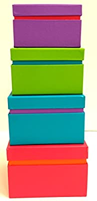 Neon Colored Gift Box - set of 4