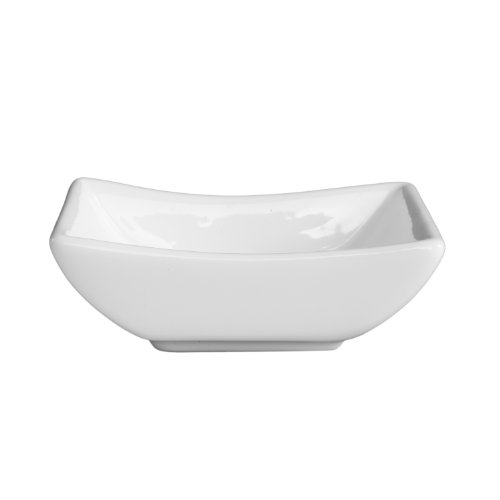Fortessa Fortaluxe Vitrified China Dipping Boat, 3.5-Inch, Set of 6