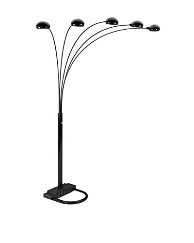 ORE International 5-Arms Arch Floor Lamp, Black