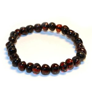 Adult Baltic Amber 7.5 Inch Bracelet by Momma Goose (Cherry)