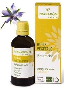 Pranarom - Huile végétale bourrache vierge - 50 ml huile végétale borago officinalis