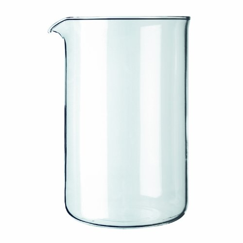 Bodum Spare Glass Carafe for French Press Coffee Maker, 12-Cup, 1.5-Liter, 51-Ounce