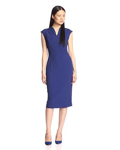 Single Women's Split Neck Sheath Dress