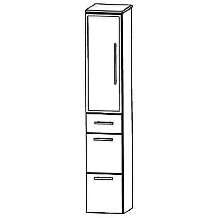 Puris Speed (HNA093BL / R Tall Cupboard Bathroom Cupboard 30 CM