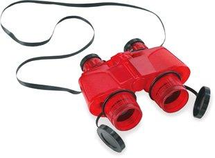 Safari 621316 Red Translucent Binoculars With Vinyl Case - Pack Of 2