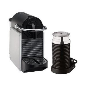 Nespresso Pixie With Aeroccinno by Magimix Electric Aluminium