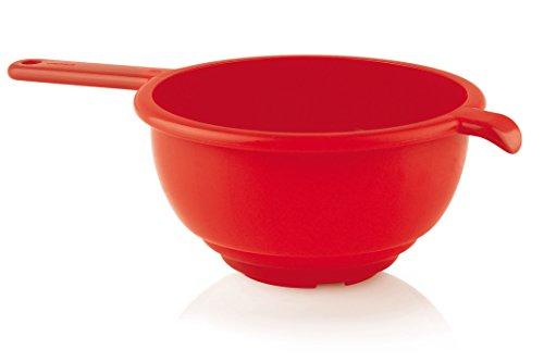 Guzzini Forme Casa 120153-31 Colapasta con Manico, Plastica, Rosso, Diametro 24 cm