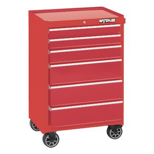 "Waterloo 26"" 6-Drawer Tool Cabinet With Liners And Upgraded Casters, Red (Wca-266Rd-Cl"