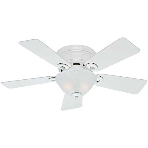 Hunter Fan Company 51022 Conroy 42-Inch Snow White Ceiling Fan with Five Snow White Blades and a Light Kit (Fans Hunter compare prices)