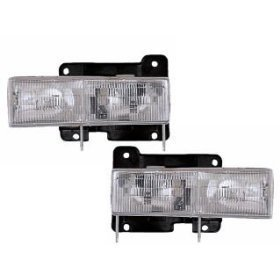 Headlights Depot Chevy Truck Replacement Headlights with bulbs (90 Chevy Silverado Headlights compare prices)