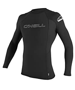 O'Neill Wetsuits Basic Skins Long Sleeve Crew, Black, Medium