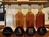 Oak Beverage Dispensing Barrel with Black Steel Bands: 1 Liter - Whiskey