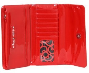 Hello Kitty Red Patent Embossed Wallet SANWA0129