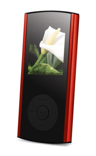 curtis SMPK4167 Sylvania 4 GB Video MP3 Player with Full Color Screen (Red)