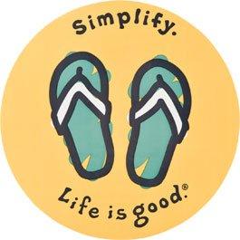 "Life Is Good. 4"" Sticker - Simplify Flip Flops front-1004073"