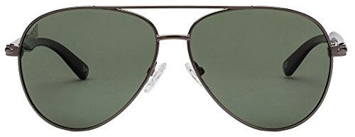 Vincent Chase VC 6961 Gunmetal Black Green C1 Aviator Polarized Sunglasses (103661)