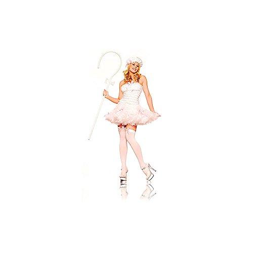 [Lil' Bow Peep Costume - Medium/Large - Dress Size 8-12] (Lil Bo Peep Adult Costumes)