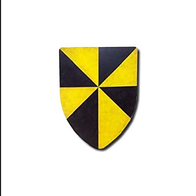 Campbell Medieval Shield 16 Gauge Steel Battle Ready - Yellow/Black - One Size