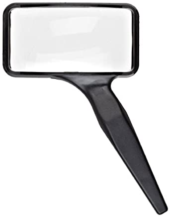 "Donegan A-2024 Aspheric Rectangular Hand Held Magnifier, 3X Magnification, 2"" x 4"" Lens"