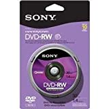 Sony 10DMW30RS2H 8cm DVD-RW 10-Pack Spindle Skin Pack