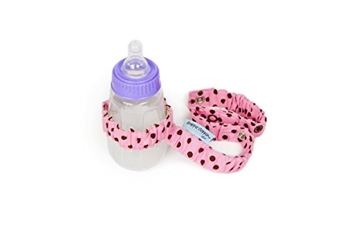Sister Chic Dropper Stopper Sippy Cup and Tether Toy, Pink Dot