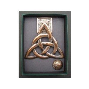 Brass W Copper Finish Trinity Knot Door Knocker Door