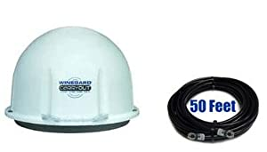 Winegard GM-1518 Carryout RV Satellite Dish and 50 Foot of RG6 Cable GM-1518-KIT