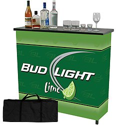 Bud Light Lime Metal 2 Shelf Portable Bar Table W/ Case front-705857