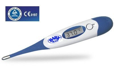 BabyMad Rapid 10 second - Digital Medical Thermometer - Flexible Tip - Waterproof