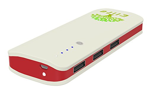 E-life DuriPower Heavy Duty Portable Charger Power Bank 10,000mah with 3 Fast USP Ports- External Battery Pack for Any Iphone, Android, Tablet and More; Charge up to 3 Devices.