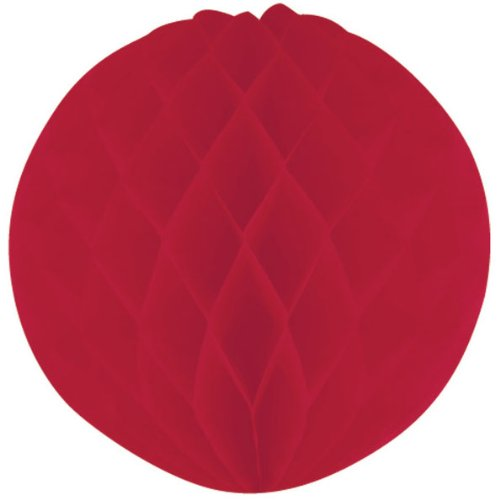 Creative Converting BB102850 Red Honeycomb Tissue Ball