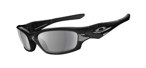 Oakley 12-935J Straight Jacket (Asian Fit) Sunglasses-Black (Gray Polar Lens)