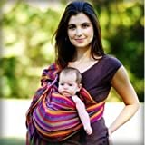 MAYA WRAP Lightly Padded Baby Ring Sling Carrier (MEDIUM - BRIGHT STRIPE) Baby, NewBorn, Children, Kid, Infant