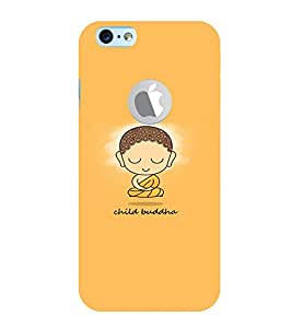 PrintVisa Quotes & Messages Buddha Religious 3D Hard Polycarbonate Designer Back Case Cover for Apple iPhone 6 Logo