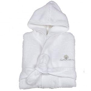 Eveil et Nature - Albornoz bebé algodón orgánico, blanco (Blanc), 12-24 meses en BebeHogar.com
