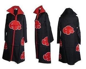 365buying Naruto Akatsuki Cloak Cosplay costume ,Naruto Akatsuki Collar Cloak, Size L (66-68.5 inches)