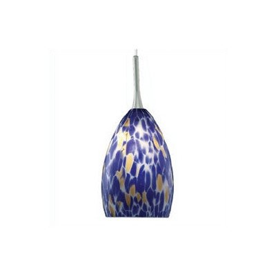 Caroline 1 Light Mini Pendant Color: Blue, Finish: Satin Nickel, Mounting Type: 2-Circuit Rail Track Pendant