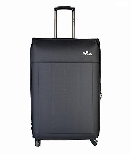 Flylite 526- 28 Inches 4 Wheel Luggage Trolley (Black)