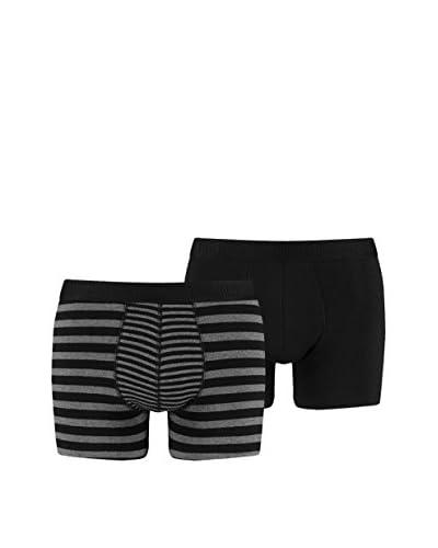 PUMA 4tlg. Set Boxershorts grau/schwarz