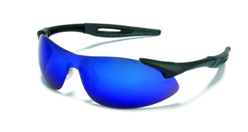 Mcr Safety Ia118B Inertia Polycarbonate Safety Glasses With Black Frame And Blue Diamond Lens