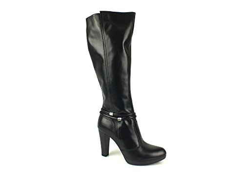NERO GIARDINI stivali donna Tacco 10 Plateau PELLE CAPRA NERO BLACK 40