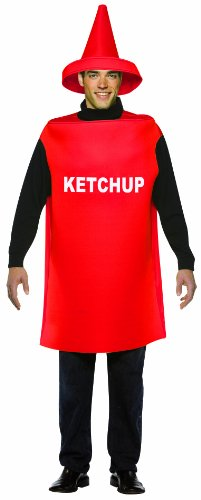 Rasta Imposta Lightweight Ketchup Costume, Red, One Size