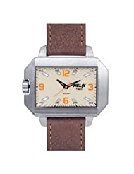 Helix Shield Analog Beige Dial Men's Watch - 02HG00