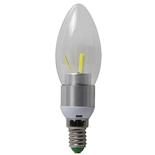 niceEshop(TM) LED E14 3W 350lm COB Kaltweiß Kerze Licht LED Kandelaber Basis Licht Birne