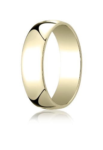 14K Yellow Gold, 6.0mm Low Dome Light Ring (sz 6)