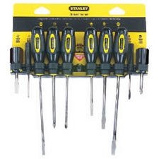 Stanley 60-100 10-Piece Standard Fluted Screwdriver Set